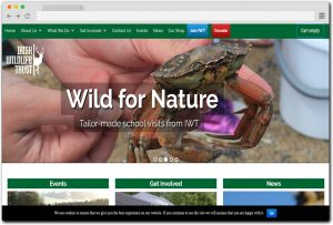 Irish Wild Life Website Design , Ecommerce and Events integration